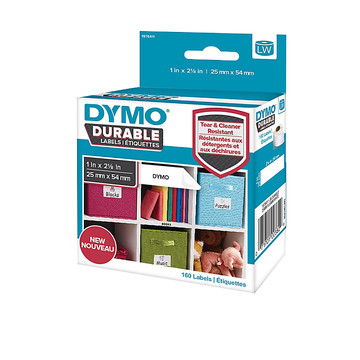 Dymo LW Duurzame Label Wit (25 mm x 54 mm)