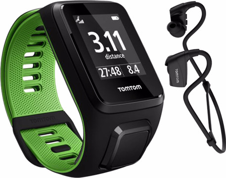 TomTom Runner 3 Cardio + Music + HP Black/Green - S