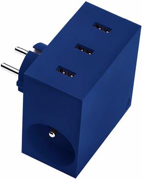 USBEPOWER High Speed 5 in 1 usb lader 4,4 A Blauw