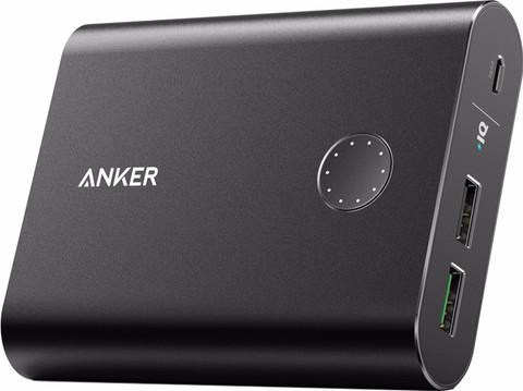 Anker PowerCore+ Powerbank Quick Charge 13.400 mAh Zwart