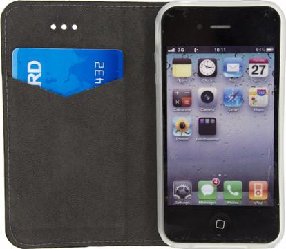 Mobilize Premium Gelly Book Case iPhone 4/4S Zwart