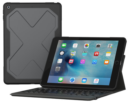 ZAGG Rugged Messenger iPad (2017) Toetsenbord Hoes QWERTY