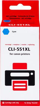 Huismerk CLI-551XL Cartridge Cyaan