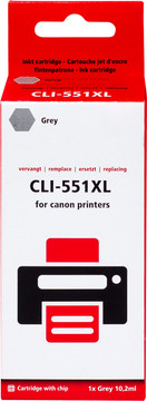 Huismerk CLI-551XL Cartridge Grijs