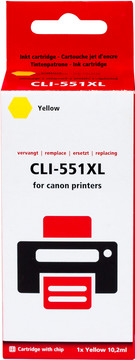 Huismerk CLI-551XL Cartridge Geel