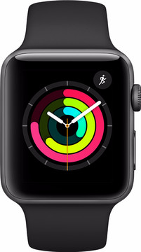 Apple Watch Series 3 42mm Space Grey Aluminium/Zwarte Sportb