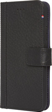 Decoded Leather Wallet iPhone X Book Case Zwart