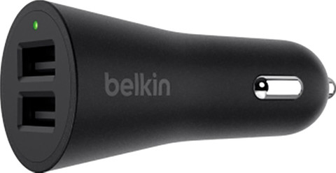 Belkin Autolader Dual USB 24W Zwart