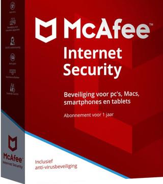 McAfee Internet Security 2018 1 jaar abonnement /1 gebruiker