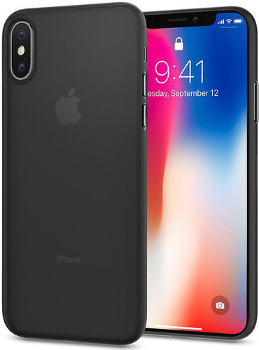 Spigen Air Skin Apple iPhone X Back Cover Black Main Image