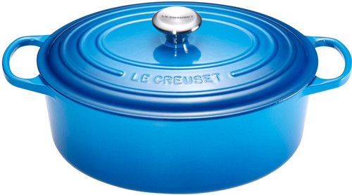 Le Creuset Oval Dutch Oven 31cm Marseille Blue Main Image