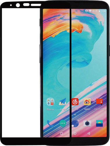 3c45ebe87833b6 Azuri Oneplus 5T Screen Protector Tempered Glass Black Main Image ...