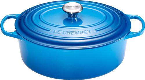 Le Creuset Ovale Braadpan 29 cm Marseilleblauw Main Image