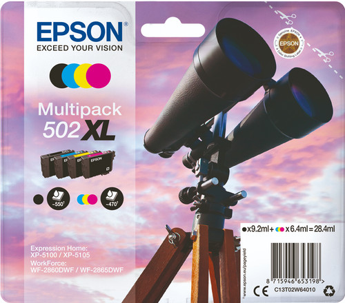 Epson 502XL 4-Color Pack (C13T02W64010) front