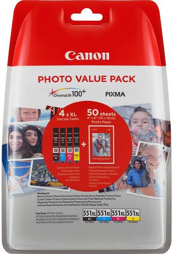 Canon CLI-551XL Multi-Pack (6443B006) Main Image