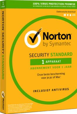 Norton Security Standard 2018   1 Jaar   1 Apparaat Main Image