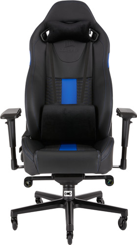 Corsair T2 Road Warrior Gaming Chair Zwart/Blauw Main Image