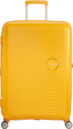 American Tourister Soundbox Expandable Spinner 77cm Golden Yellow Main Image