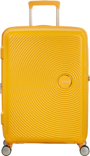 American Tourister Soundbox Expandable Spinner 67cm Golden Yellow Main Image