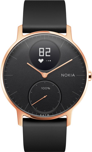 Nokia Steel HR (36mm) Rose Goud Zwart Siliconen Main Image