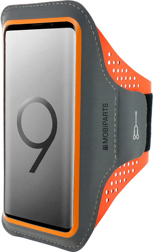 Mobiparts Comfort Fit Sportarmband Samsung Galaxy S9 Plus Oranje Main Image
