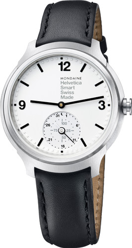 Mondaine Helvetica No1 Silver/Black Main Image