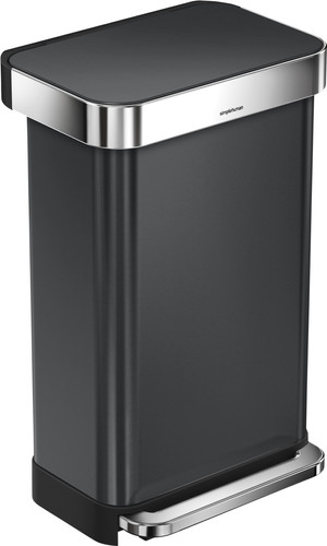 Simplehuman Rectangular Liner Pocket Rvs 45 liter Main Image