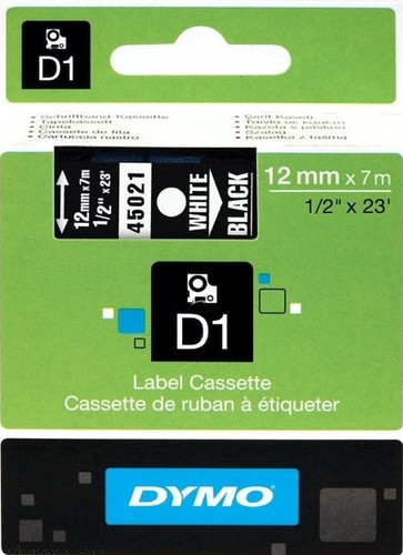 DYMO D1 Tape White-Black (12 mm x 7 m) Main Image