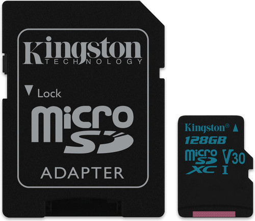 Kingston microSDXC Canvas Go! 128GB 90MB/s + SD Adapter Main Image