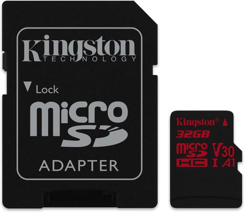Kingston microSDHC Canvas React 32GB 100MB / s + SD Adapter Main Image