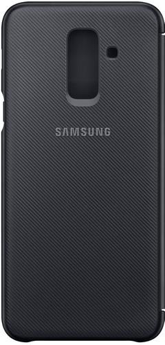 detailed look e9d63 e228b Samsung Galaxy A6 Plus (2018) Wallet Cover Book Case Zwart