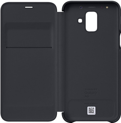 best service e1e0b 0899d Samsung Galaxy A6 (2018) Wallet Cover Book Case Black