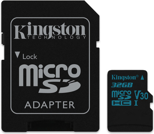 Kingston microSDHC Canvas Go! 32GB 90MB/s + SD Adapter Main Image
