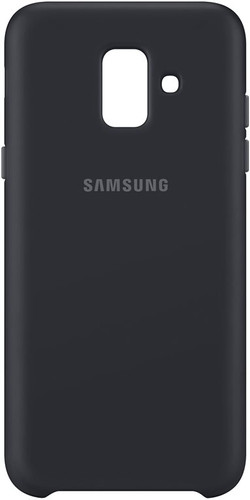 Samsung Galaxy A6 (2018) Dual Layer Cover Back Cover Zwart Main Image