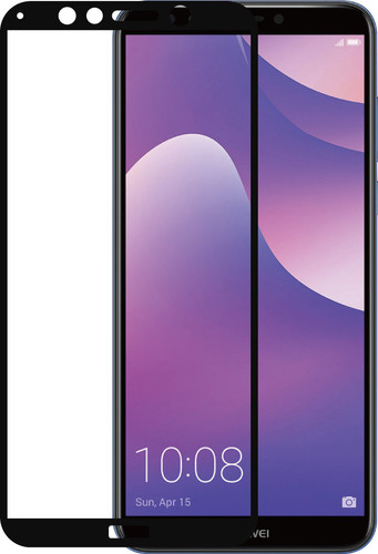 Azuri Tempered Glass Huawei Y7 (2018) Screen Protector Glass Black Main Image