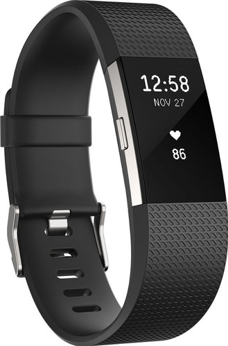 Fitbit Charge 2 Black/Silver - L Main Image