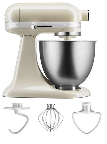 KitchenAid Artisan Mini Mixer 5KSM3311XEAC Almond White Main Image
