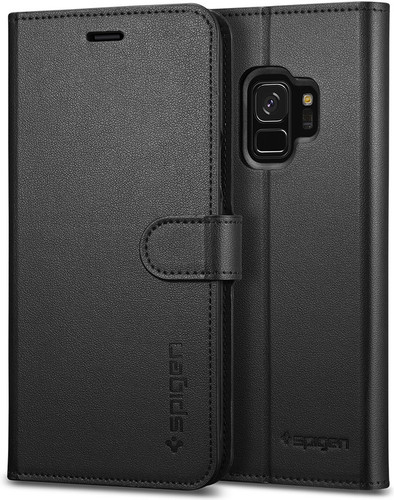 Spigen Wallet S Samsung Galaxy S9 Book Case Black Main Image