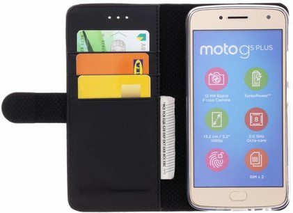 Azuri Wallet Magnet Motorola Moto E5 Book Case Black Main Image