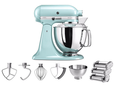 Kitchenaid Artisan Mixer 5ksm175ps Ice Blue Pastarola Set
