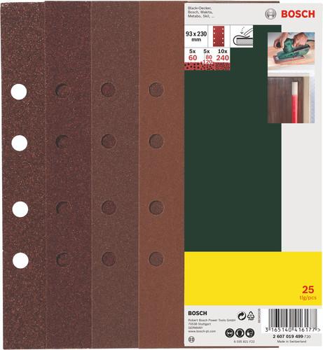 Bosch Schuurpapierset 93x230mm K60, K80, K120, K240 (25x) Main Image
