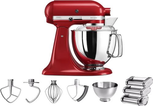 KitchenAid Artisan 5KSM175PS Empire Red + Pasta Rolling Set Main Image