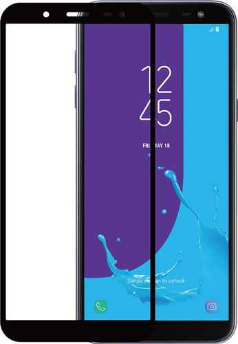 Azuri Samsung Galaxy J6 (2018) Screenprotector Gehard Glas Zwart Main Image
