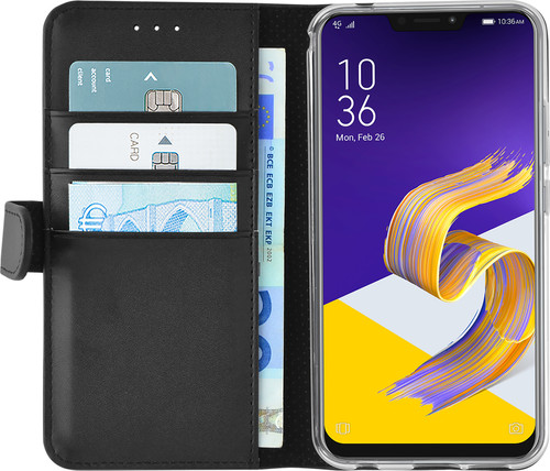 Azuri Wallet Magnetic Asus Zenfone 5 Book Case Black Main Image