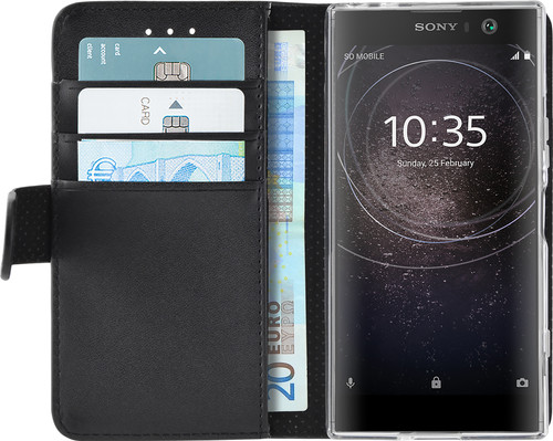 Azuri Wallet Magnet Sony Xperia XA2 Book Case Black Main Image