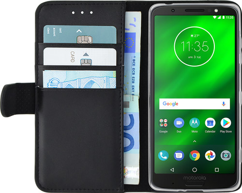 Azuri Wallet Magnet Motorola Moto G6 Plus Book Case Black Main Image