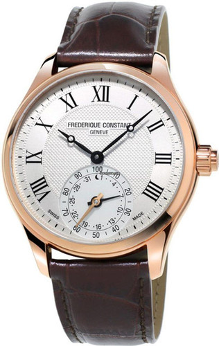 Frederique Constant Horological Gents Classic Wit/Bruin Main Image