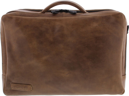 """Plover 2-Pack Laptop Bag 15.6 """"Full Grain Cow Leather Taupe Main Image"""