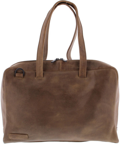 "Plover 1-Ladies Ladies Shoulder Bag 15.6 ""Full Grain Cow Leather Taupe Main Image"