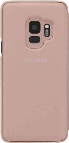 Samsung Galaxy S9 Clear Stand View Cover Goud Main Image